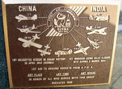 First Air Commandos Marker image. Click for full size.