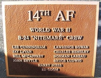 "B-24 ""Nitemare"" Crew Marker image. Click for full size."