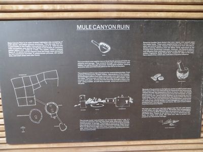 Mule Canyon Ruin Marker image. Click for full size.