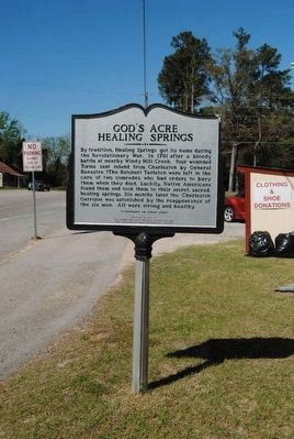 God's Acre Healing Springs Marker (Front) image. Click for full size.