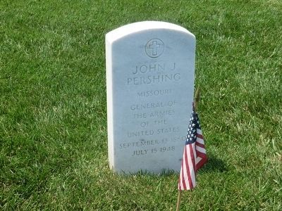 John J. Pershing, Grave marker at Arlington National Cemetery image. Click for full size.