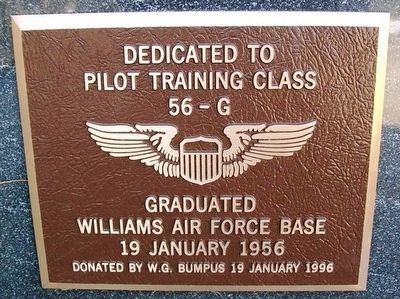 Pilot Training Class 56-G Marker image. Click for full size.