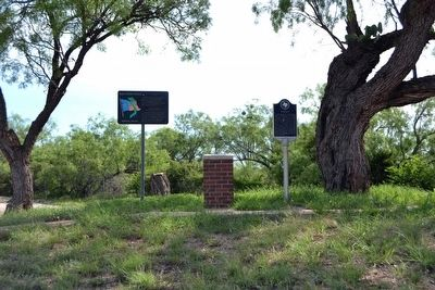 Texas Vietnam Veterans Memorial Highway and Rath City Markers image. Click for full size.