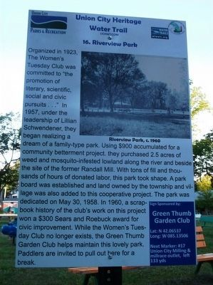 Riverview Park Marker image. Click for full size.