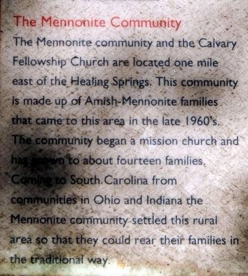 Blackville Marker<br>The Mennonite Community image. Click for full size.