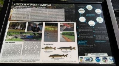 Lime Kiln Dam Removal Marker image. Click for full size.