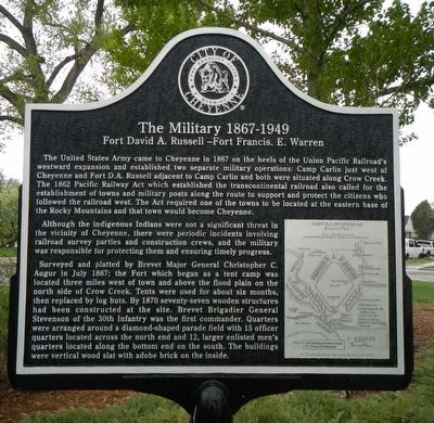 The Military 1867-1949 Marker image. Click for full size.