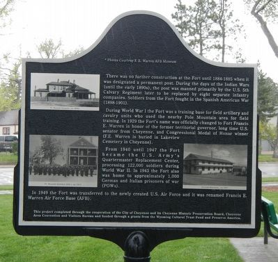 The Military 1867-1949 Marker, reverse image. Click for full size.