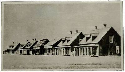 Fort D.A. Russell, Officers' Row, 1868 image. Click for full size.