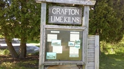 Grafton Lime Kilns Marker image. Click for full size.