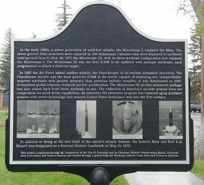 The Military 1949-Present Marker, reverse image. Click for full size.