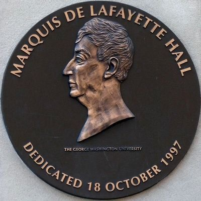 Marquis de Lafayette Hall<br>Dedicated 18 October 1997 image. Click for full size.