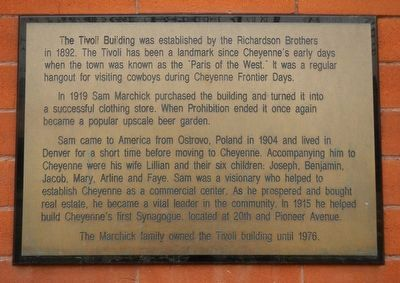 The Tivoli Building Marker image. Click for full size.