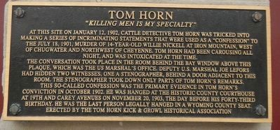 Tom Horn Marker image. Click for full size.
