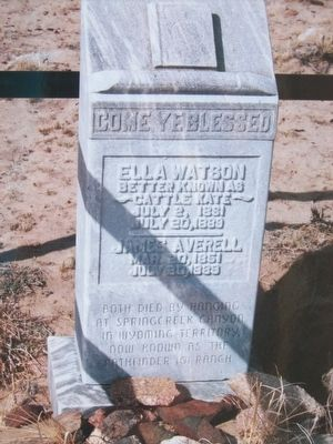 Ella Watson Memorial image. Click for full size.