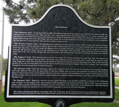 The Trails (Part I) Marker, reverse image. Click for full size.
