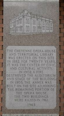 The Cheyenne Opera House and Territorial Library Marker image. Click for full size.