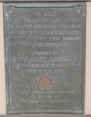 Suffrage Tablet Marker image. Click for full size.