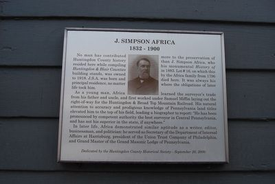 J.Simpson Africa Marker image. Click for full size.