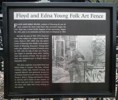 Floyd and Edna Young Folk Art Fence Marker image. Click for full size.
