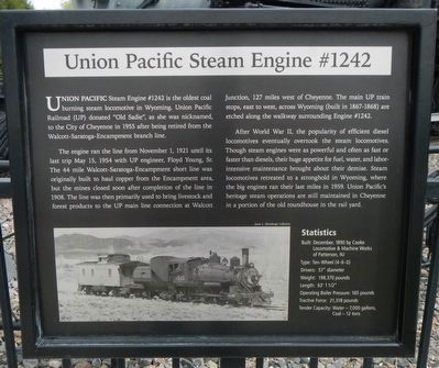 Union Pacific Steam Engine #1242 Marker image. Click for full size.