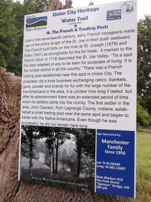 The French & Trading Posts Marker image. Click for full size.