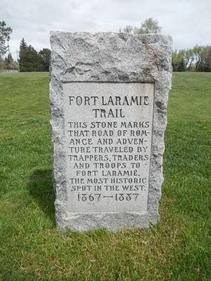 Fort Laramie Trail Marker image. Click for full size.
