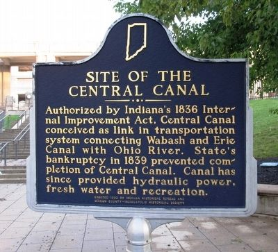 Site of the Central Canal Marker image. Click for full size.
