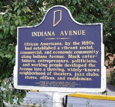 Indiana Avenue Marker image. Click for full size.