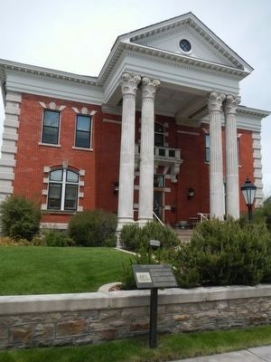 Wyoming Governor's Mansion and Marker image. Click for full size.