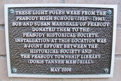Peabody High School Light Poles Marker image. Click for full size.