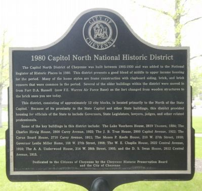 1980 Capitol North National Historic District Marker image. Click for full size.