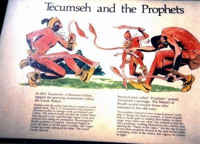 Tecumseh and the Prophets Marker image. Click for full size.