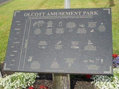 Olcott Amusement Park Marker image. Click for full size.