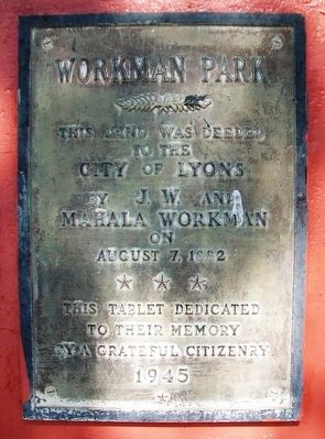 Workman Park Marker image. Click for full size.