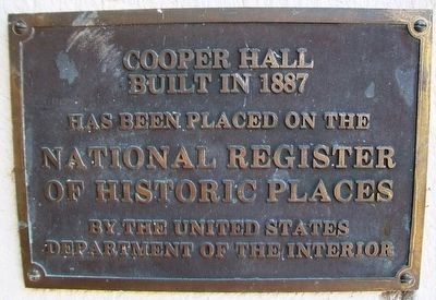 Cooper Hall NRHP Marker image. Click for full size.