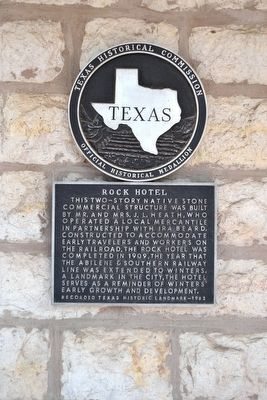 Rock Hotel Marker image. Click for full size.