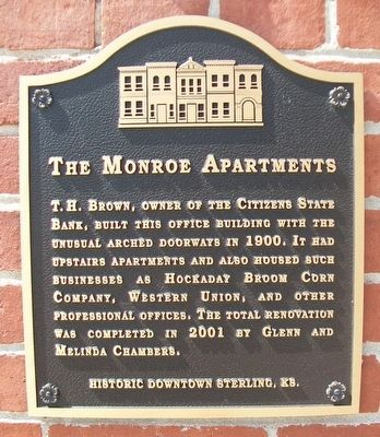 The Monroe Apartments Marker image. Click for full size.