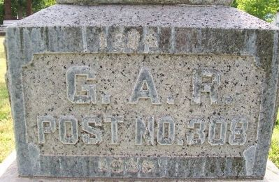G.A.R. Post No. 308 Memorial Marker image. Click for full size.