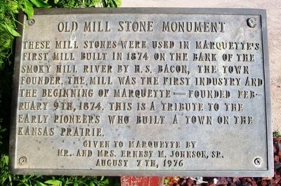 Old Mill Stone Monument Marker image. Click for full size.