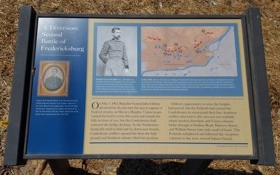 A Diversion: Second Battle of Fredericksburg Marker image. Click for full size.