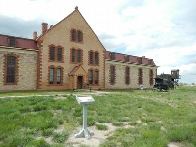 Ice House Marker and Wyoming Territorial Prison image. Click for full size.