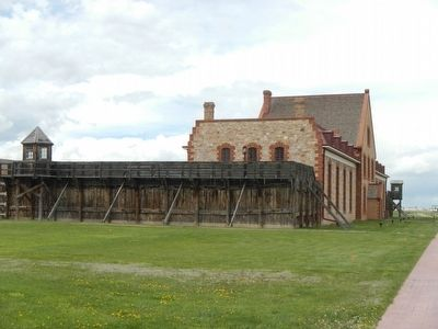 Wyoming Territorial Prison image. Click for full size.