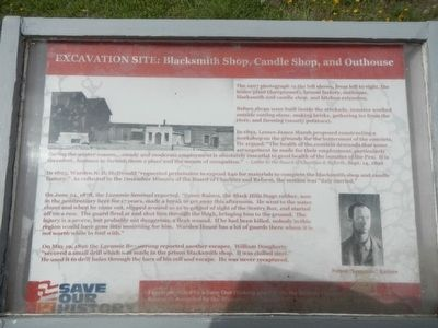 Excavation Site: Blacksmith Shop, Candle Shop, and Outhouse Marker image. Click for full size.
