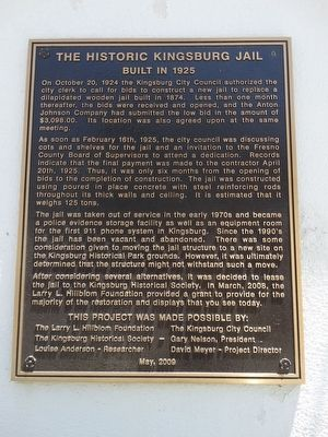 The Historic Kingsburg Jail Marker image. Click for full size.