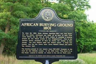 African Burying Ground Marker image. Click for full size.