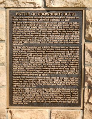 Battle of Crowheart Butte Marker image. Click for full size.