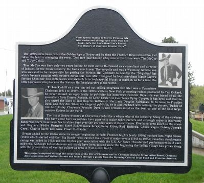 Cheyenne Frontier Days™ (Part I) Marker, reverse image. Click for full size.
