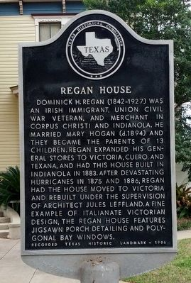 Regan House Marker image. Click for full size.