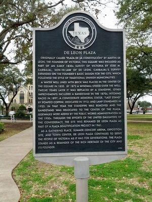 De Leon Plaza Marker image. Click for full size.